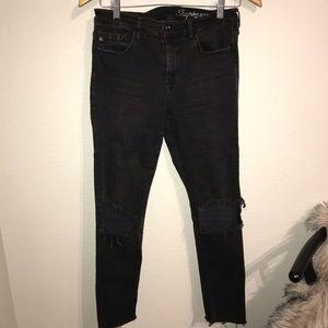 H&M black skinny jeans shaping denim 30 crop